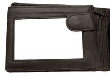 plånbok för w för bild för ramläderbana Arkivfoto