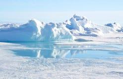 Pólo Norte geográfico Fotos de Stock Royalty Free