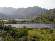Ploce湖在克罗地亚 免版税库存照片