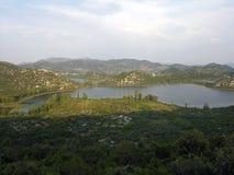Ploce湖在克罗地亚 免版税库存图片