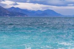 Ploche-Strand im Winter, Republik von Montenegro Stockbilder