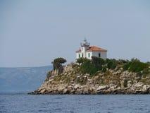 The Plocica lighthouse in the Adriatic sea of Croatia Stock Photo