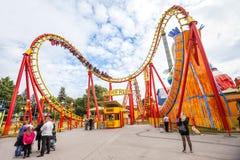 Plociucha park rozrywki w Wiedeń, Austria. Zdjęcie Stock