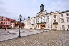 Plock, Poland. Poland - Plock, city in Masovia (Mazowsze) region. Main square Royalty Free Stock Images