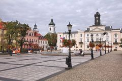 Plock, Poland. SEPTEMBER 7, 2010: People visit Old Town in . With 127,000 people Plock is among 30 largest cities in Poland. It dates back to the 9th century Stock Image