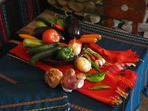 plocka svamp grönsaker Royaltyfria Foton