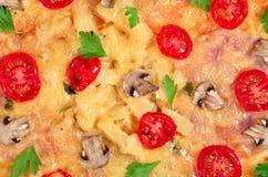 plocka svamp pizza Fotografering för Bildbyråer
