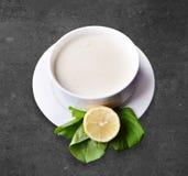 plocka svamp soup Arkivfoton