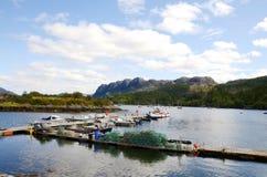 Plockton, Scotland. The bay at Plockton, Scotland (the setting for the television series Hamish Macbeth with Robert Carlyle Stock Photo