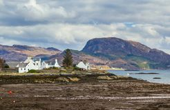 Plockton, Scotland. Scottish coastal village in the Highlands of Scotland, in the county of Ross and Cromarty. Used as the setting for the television series Stock Photos