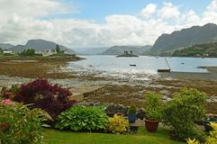 Plockton , Scotland United Kingdom Europe. Plockton is a village in the Highlands of Scotland in the county of Ross and Cromarty with a population of 378 Royalty Free Stock Photo