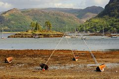 Plockton shoreline, Scottish highlands Stock Photo