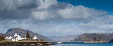 Plockton und Loch Carron, Schottland Lizenzfreies Stockfoto