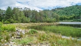 Idyllic view near Plockton village in the Highlands of Scotland in the county of Ross and Cromarty. royalty free stock photo