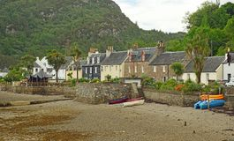 Plockton , Scotland United Kingdom Europe. Plockton is a village in the Highlands of Scotland in the county of Ross and Cromarty with a population of 378 Royalty Free Stock Image
