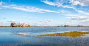 Ploder parzialmente sommerso di Noordwaard nei Paesi Bassi Immagine Stock