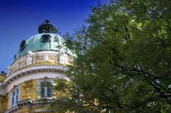 Ploech Palace Cupola in Rijeka, Croatia Stock Photos