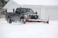 Ploegende sneeuw Royalty-vrije Stock Fotografie