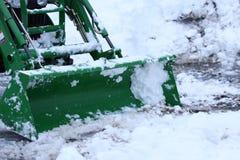 Ploegende sneeuw Stock Foto