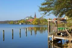 Ploen,Schleswig-Holstein,Germany. Village of Ploen at great lake Ploen in Schleswig-Holstein,Germany royalty free stock photos