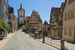 Ploenlein in Rothenburg ob der Tauber Stock Afbeeldingen
