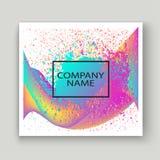 Ploetert de neon vloeibare verf artistiek malplaatjeontwerp Kleurrijke de textuurplons van de inktexplosie in gele roze In vector vector illustratie
