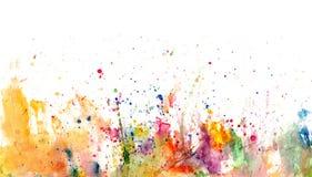 Ploetert en bevlekt op Witboek - waterverf artistieke backgr stock illustratie