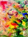 Ploetert en bevlekt - waterverf artistieke achtergrond stock illustratie