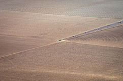 Plogad jordbruks- jord Royaltyfri Fotografi