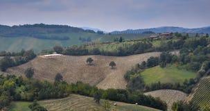 Plogade fält i Rolling Hills Royaltyfri Bild