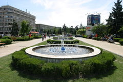 Ploiesti city. A beautiful fountain in a city park in Ploiesti, Romania. Ploiesti is the 9th largest city in Romania and exists since 1596. It is famous for oil Stock Photos