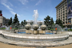 Ploiesti city. A beautiful fountain in a city park in Ploiesti, Romania. Ploiesti is the 9th largest city in Romania and exists since 1596. It is famous for oil Stock Image