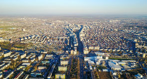 Ploiesti , Romania, aerial view. Ploiesti is a city located in south east Romania , a vibrant industrial city especially known for it`s oil and gas industry Stock Photography