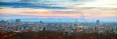 Ploiesti Romania Panorama. Overview Of Ploiesti City Romania Early In The Morning With Refinery In The Background One Of The Royalty Free Stock Photo
