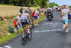 Ploka小点泽西-环法自行车赛2017年 免版税库存图片