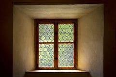 Plomado histórico o vitral Foto de archivo libre de regalías