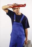 Plombier fatigué Images libres de droits