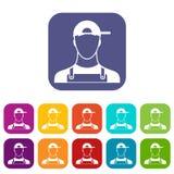Plombier Icons Set illustration libre de droits