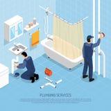 Plombier Isometric Illustration Image libre de droits