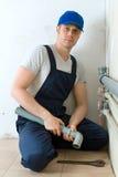 Plombier masculin Photos libres de droits