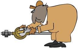Plombier tournant une valve Images stock