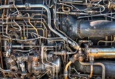 Plomería del motor de jet Fotos de archivo