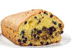 Plommoncake med choklad Royaltyfria Bilder