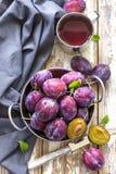 Plommonfruktsaft Royaltyfri Bild