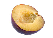 Plommonfruktskiva royaltyfria foton