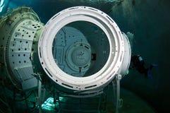 Plongée à l'air de l'espace Image stock