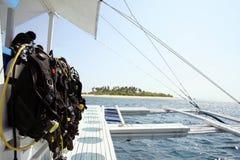 Plongée d'île Image libre de droits