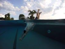 Plongée dans l'été Photo libre de droits