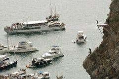 Plongée de falaise Photos libres de droits