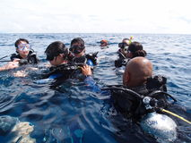 Plongée en Malaisie Photographie stock